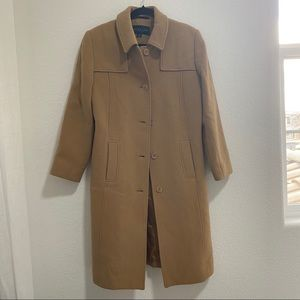 Kenneth Cole Reaction Womens Tan Brown Button Up Jacket Coat Size 10